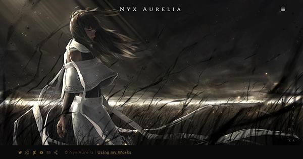 Nyx Aurelia Portfolio Website Examples