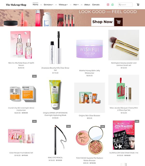 The Makeup Shop  Portfolio Website Examples