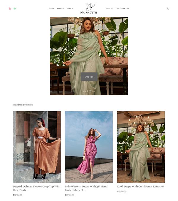 Naina Seth Portfolio Website Examples
