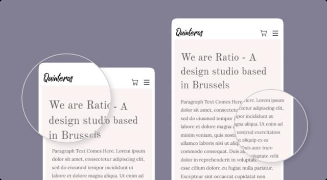 Customise font sizes for mobile website