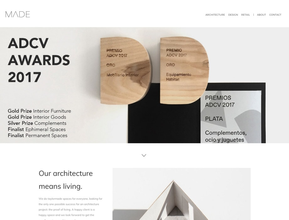 Portfolio Websites for Architects and Interior Designers