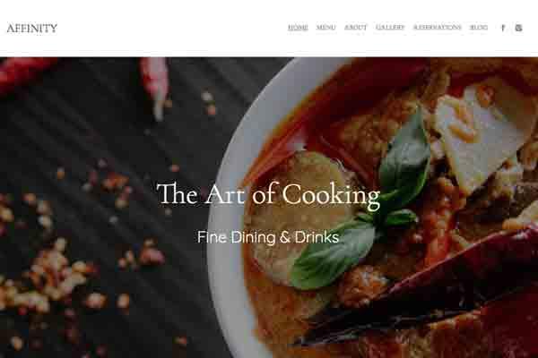 Affinity - Pixpa Portfolio Website Templates