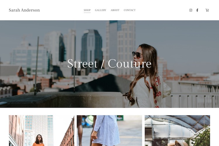 Avenue - Pixpa Portfolio Website Templates