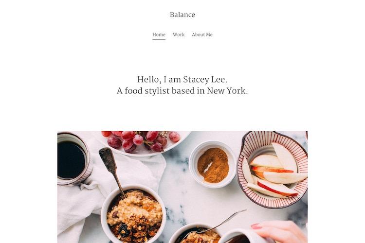 Balance - Pixpa Portfolio Website Templates