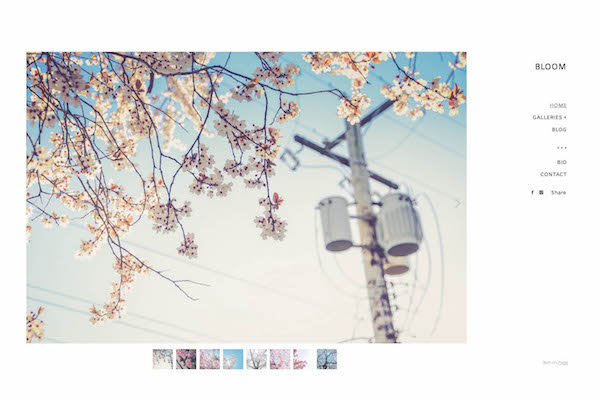Bloom - Pixpa Portfolio Website Templates