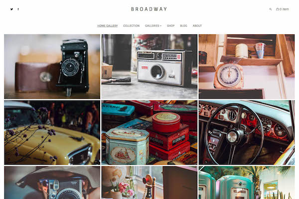 Broadway - Pixpa Portfolio Website Templates
