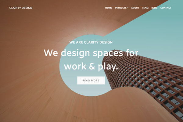 Clarity - Pixpa Portfolio Website Templates
