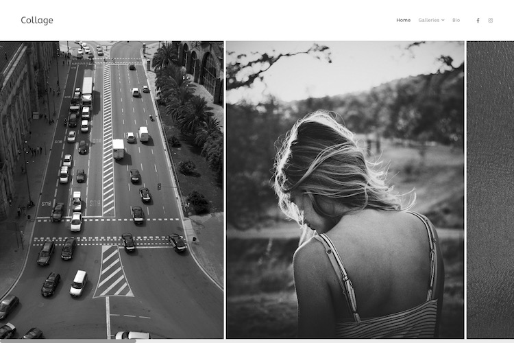 Collage - Pixpa Portfolio Website Templates