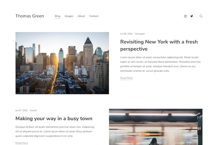 Compose - Pixpa Portfolio Website Templates
