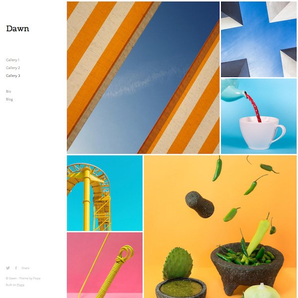 Dawn - Pixpa Portfolio Website Templates