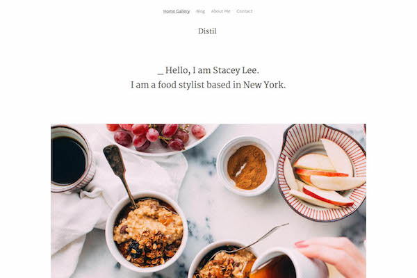 Distil - Pixpa Portfolio Website Templates