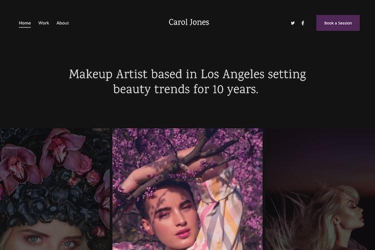 Electra - Pixpa Portfolio Website Templates