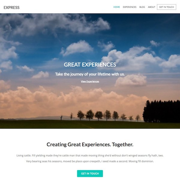 Express - Pixpa Portfolio Website Templates