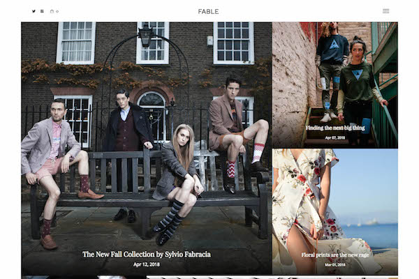 Fable - Pixpa Portfolio Website Templates