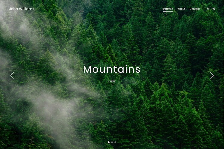 Forest - Pixpa Portfolio Website Templates