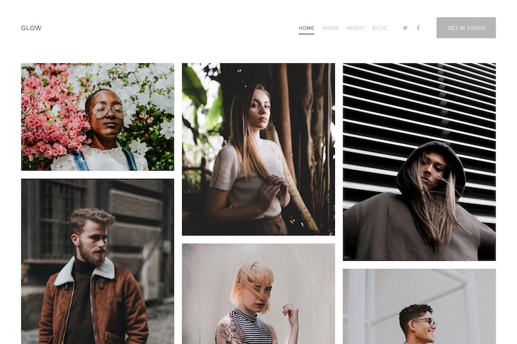 Glow - Pixpa Portfolio Website Templates