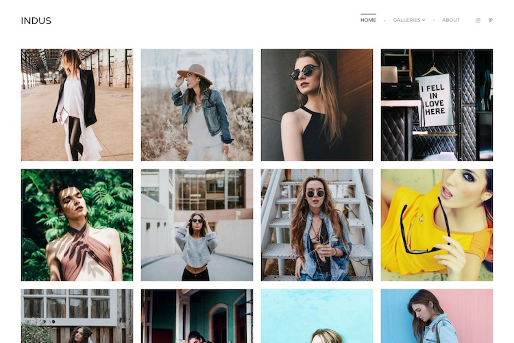 Indus - Pixpa Portfolio Website Templates