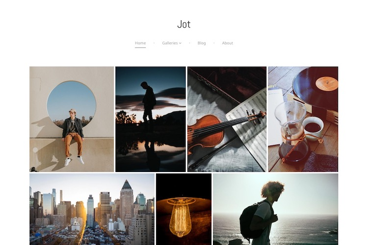 Jot - Pixpa Portfolio Website Templates