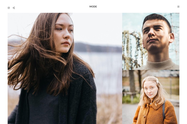 Mode - Pixpa Portfolio Website Templates