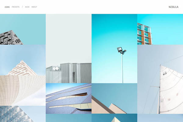 Nebula - Pixpa Portfolio Website Templates