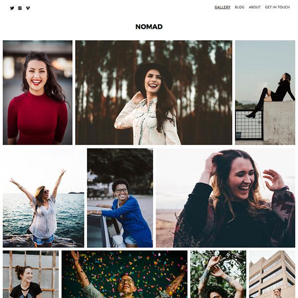 Nomad - Pixpa Portfolio Website Templates