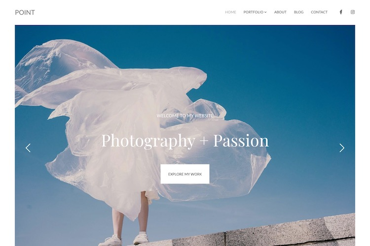 Point - Pixpa Portfolio Website Templates