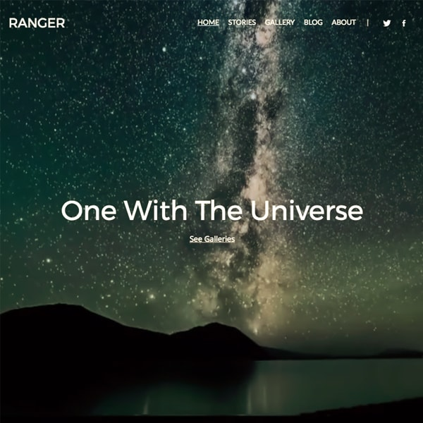 Ranger - Pixpa Portfolio Website Templates