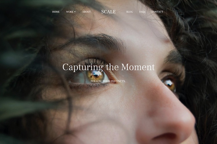 Scale - Pixpa Portfolio Website Templates