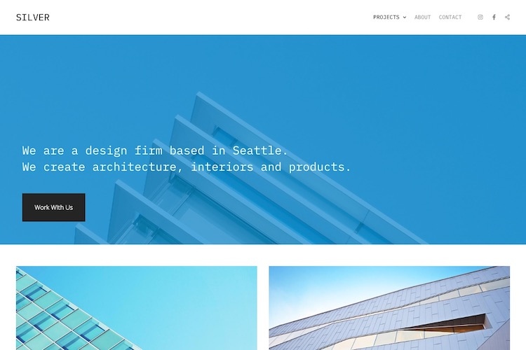 Silver - Pixpa Portfolio Website Templates