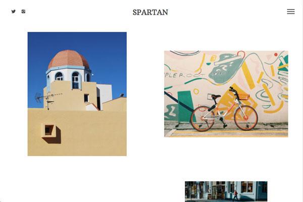 Spartan - Pixpa Portfolio Website Templates