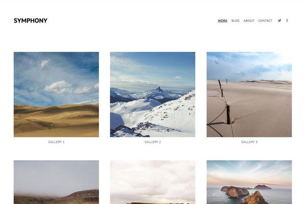 Symphony - Pixpa Portfolio Website Templates