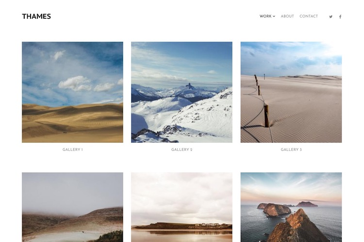 Thames - Pixpa Portfolio Website Templates