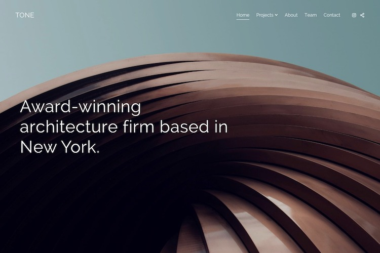 Tone - Pixpa Portfolio Website Templates