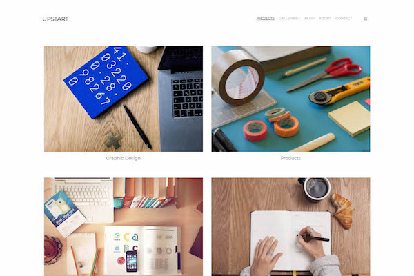 Upstart - Pixpa Portfolio Website Templates