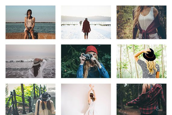 HTML Responsive Gallery layouts - Horizontal Spaced
