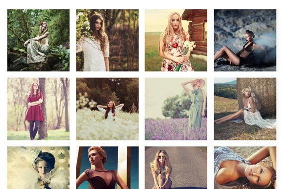 HTML Responsive Gallery layouts - Square Spaced
