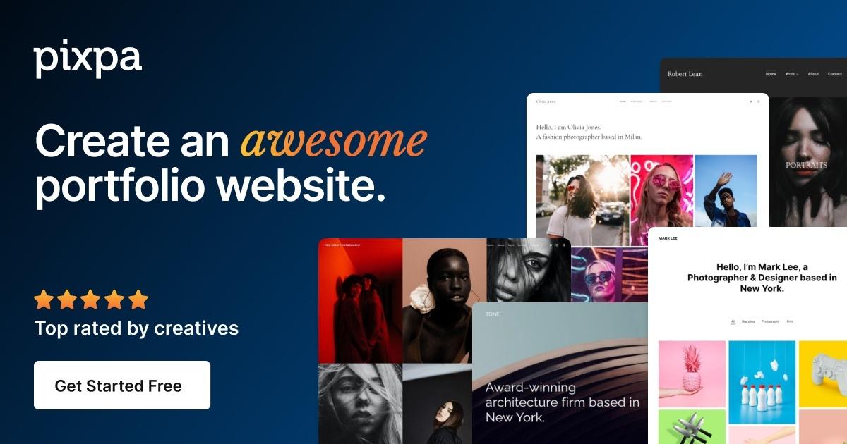 Portfolio Websites for Photographers and Creators - Pixpa